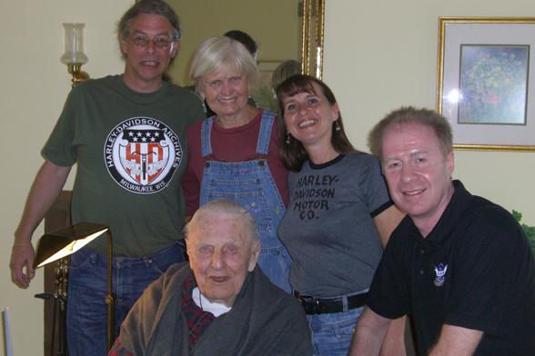 Mike, Jean Davidson, Arthur Harley Davidson, Maggie & Keith